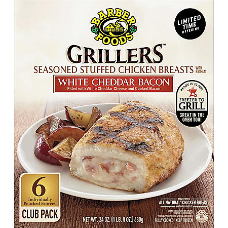 Barber Foods Grillers White Cheddar and Bacon, Fully Cooked (6 ct.)
