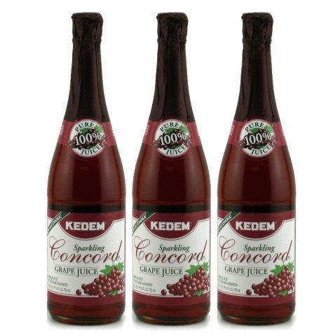 Kedem Sparkling Concord Grape Juice - 25.4 oz. - 3 ct.
