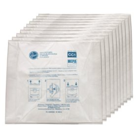 Hoover Commercial Disposable Vacuum Bags, Hepa CC1 (10 ct.)