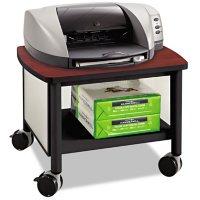 Safco Impromptu Under Table Printer Stand, 20.5W x 16.5D x 14.5H (Black/Cherry)
