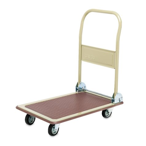 "Safco 18"" Fold-Away Platform Truck, Tropic Sand/Brown"