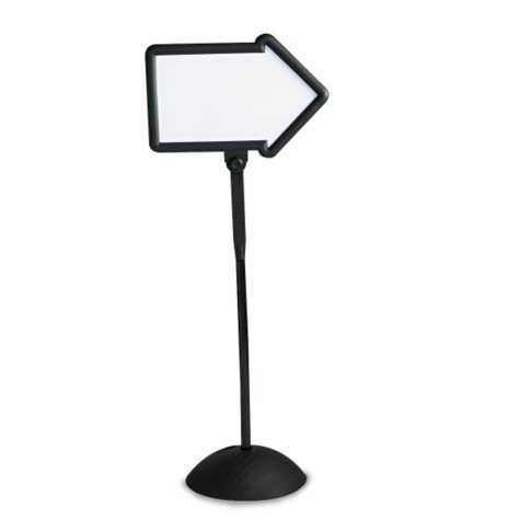 Safco - Double-Sided Arrow Sign, Dry Erase Magnetic Steel, 25 1/2 x 60, Black Frame