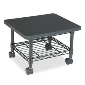 Safco One Shelf Underdesk Printer/Fax Stand, Black