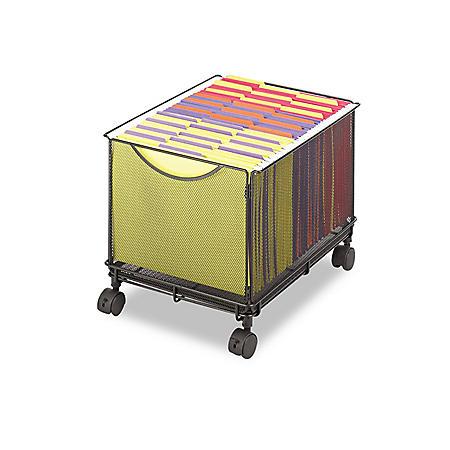 Safco Onyx Mesh Mobile File Cube, Black
