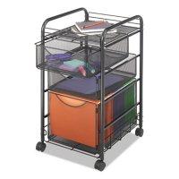 Safco Onyx 2-Drawer Mesh Mobile File Cart, Black