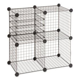 Safco Wire Cube Shelving System, Black