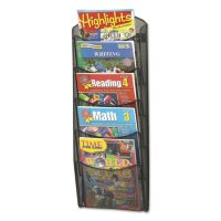 Safco® 5-Pocket Mesh Magazine Rack, Black