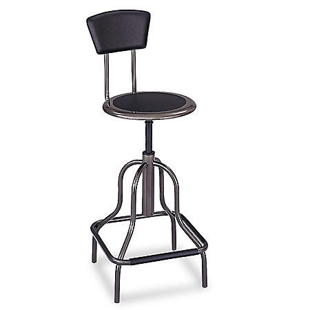 Safco Diesel Series High-Base Industrial Stool, Black