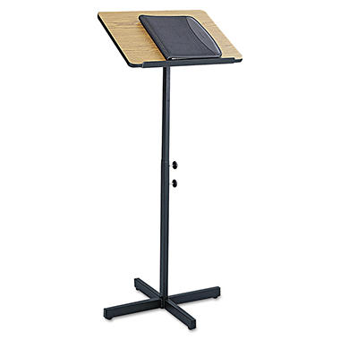 Safco® Adjustable Speaking Stand, Select Color