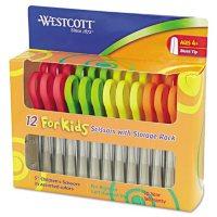 "Westcott Kids Scissors, 5"" Blunt, Assorted, 12/Pack"