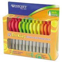 "Westcott Kids Scissors, 5"" Pointed, Assorted, 12/Pack"