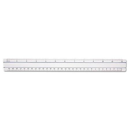"Westcott - 12"" Magnifying Ruler, Plastic -  Clear"