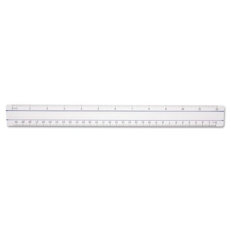 "Westcott - 12"" Magnifying Ruler, Plastic -  Clear"