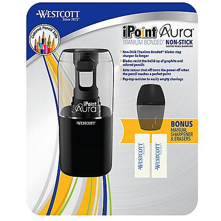Westcott iPoint Aura Ti Nonstick Electric Pencil Sharpener (Choose a Color)