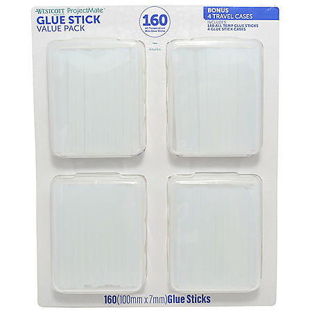 Westcott 160-Count Glue Sticks with 4 Storage Cases