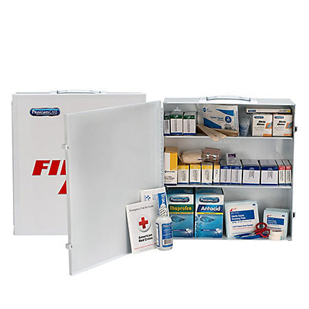PhysiciansCare 100 Person First Aid Kit with Medications
