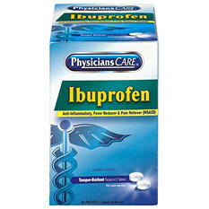 PhysiciansCare - Ibuprofen Medication, Two-Pack, 200mg -  50 Packs/Box