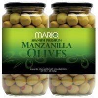 Mario Spanish Premium Manzanilla Olives (21 oz. jars, 2 ct.)