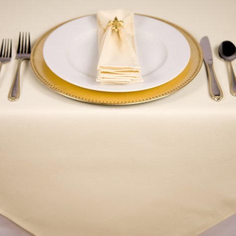 Riegel 64 x 64 Tablecloth - French Vanilla - 6 pk.