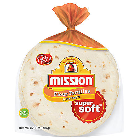 Mission Medium Flour Soft Taco Tortillas (35oz / 2pk)