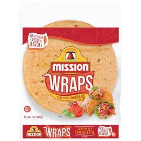 Mission Sun-Dried Tomato Basil Wraps (6 ct., 15 oz.)