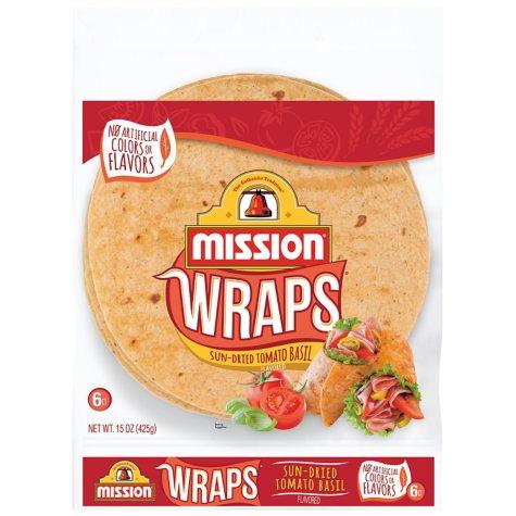 Sun-Dried Tomato Basil Wraps - 15 oz. bag - 6 ct.
