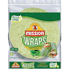 Mission Garden Spinach Herb Wraps (24 ct., 30 oz.)