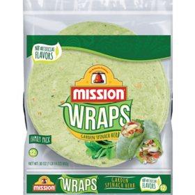 Mission Garden Spinach Herb Wraps (12 ct.)