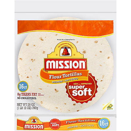 Mission Medium Soft Taco Flour Tortillas (16 ct.)