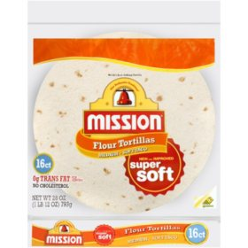 Mission Medium Soft Taco Flour Tortillas (16 ct.)