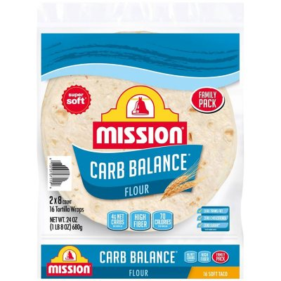 Mission Carb Balance Soft Taco Flour Tortillas 12 Oz 2 Pk Sam S Club