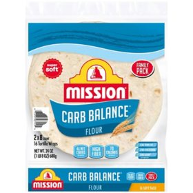 Mission Carb Balance Soft Taco Flour Tortillas (12 oz., 2 pk.)