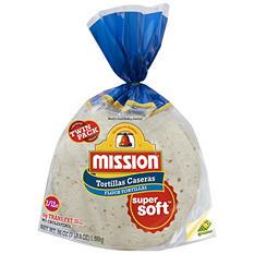 """Mission 8.5"""" Burrito Casera Flour Tortilla, Twin Pack (12 ct., 2 pk.)"""