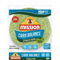 Mission Carb Balance Spinach Herb Tortilla Wraps (12 oz.)