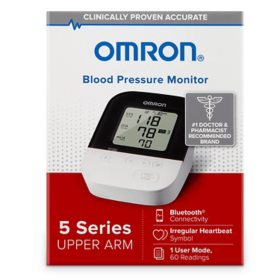 OMRON 5 Series Wireless Upper Arm Home Blood Pressure Monitor
