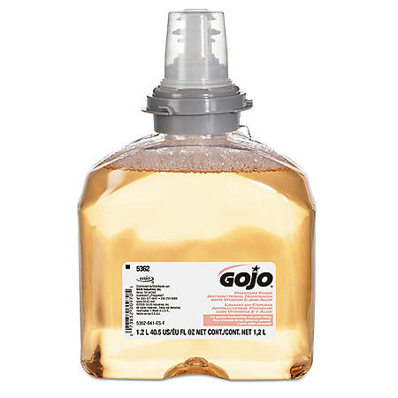 (Pack of 2) GOJO TFX Premium Foam Antibacterial Handwash, Fresh Fruit Scent, 1200 mL Foam Soap Refills for GOJO TFX Touch-Free Dispenser (5362-02)