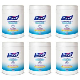 Purell Sanitizing Wipes, Fresh Citrus Scent (270 per canister, 6 ct.)