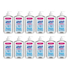Purell- Hand Sanitizer, 20oz Pump Bottle -  12/Carton
