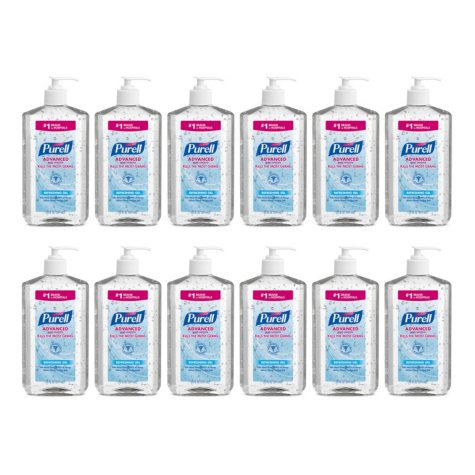 Purell Hand Sanitizer, Pump Bottle (20 oz., 12 ct.)