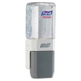 PURELL Advanced Hand Sanitizer ES System Starter Kit, 1 – 450 mL Gel Sanitizer Refill + 1 PURELL ES Compact Push-Style Dispenser - 1450-D8