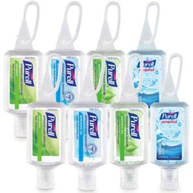 Purell Advanced Hand Sanitizer Gel Variety Pack, Travel sized Flip Cap bottles with Jelly Wrap Carriers (1fl. oz., 8pk)