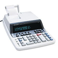 Sharp QS2760H Two-Color Ribbon Printing Calculator, 12-Digit Fluorescent, Black/Red