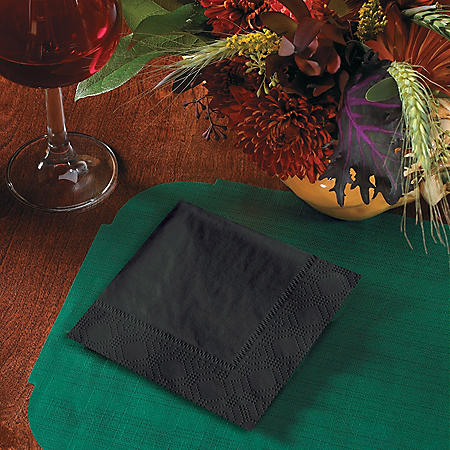 Hoffmaster Black Beverage Napkins (1,000 ct.)