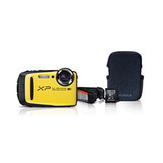 Fujifilm FinePix XP90 Waterproof Digital Camera Bundle, 16.4MP CMOS with 5x Optical Zoom