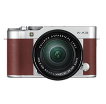 FUJIFILM X-A3 Mirrorless Camera Bundle with XC16-50mmF3.5-5.6 OIS II Lens - BROWN