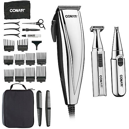 Conair 3-in-1 Chrome Clipper, Trimmer and Nose/Ear Detailer (25 piece)
