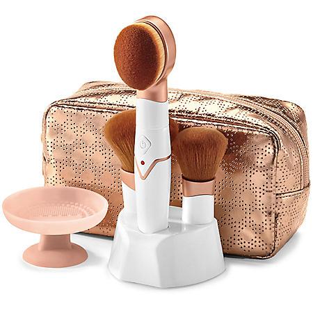 Conair True Glow Rechargeable Vibrating Makeup Brush Set