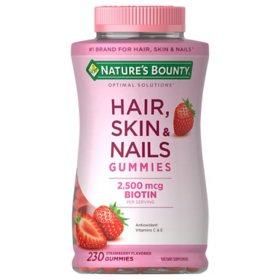 Nature's Bounty Hair Skin and Nails Vitamins With Biotin, Gummies (230 ct.)