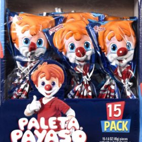 Ricolino Paleta Payaso Marshmallow Lollipop (15 ct.)