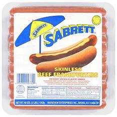Sabrett® Natural Casing Beef Frankfurters - 48 oz.